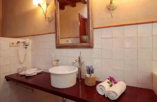 Deluxe Double or Twin Room with Terrace Can Lluc Hotel Rural 8