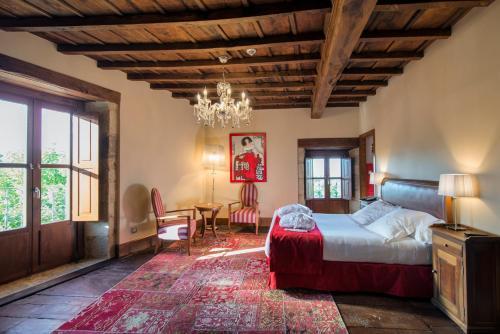 Habitación Doble Deluxe con bañera de hidromasaje - 1 o 2 camas Pazo da Pena Manzaneda 3