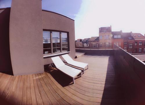 Chambre privée dans loft avec vue sur l'Atomium, 1020 Brüssel