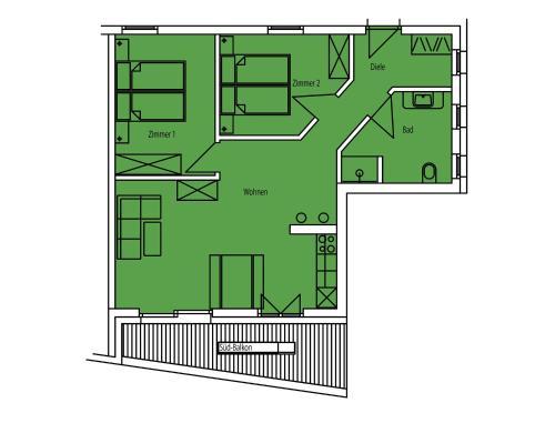 Фото отеля Kasperhof Apartments Innsbruck Top 6 - 7