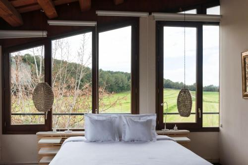 Doppelzimmer mit Gartenblick Hotel Masia La Palma 3