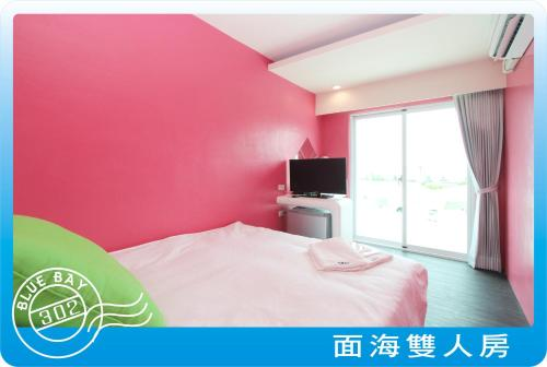 海景雙人房-附陽台 (Double Room with Balcony and Sea View)