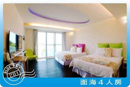 海景四人房 (Quadruple Room with Sea View)