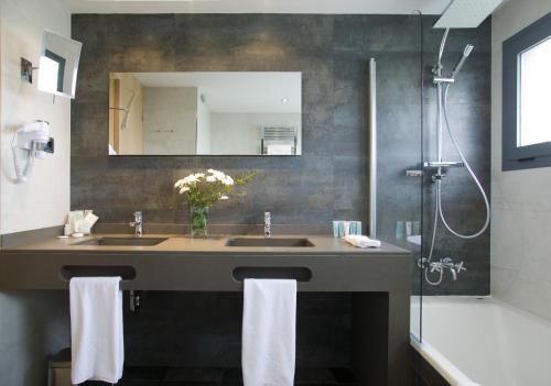 Doppel- oder Zweibettzimmer mit Gartenblick und Zugang zum Spa - Einzelnutzung Hotel Spa Niwa 7