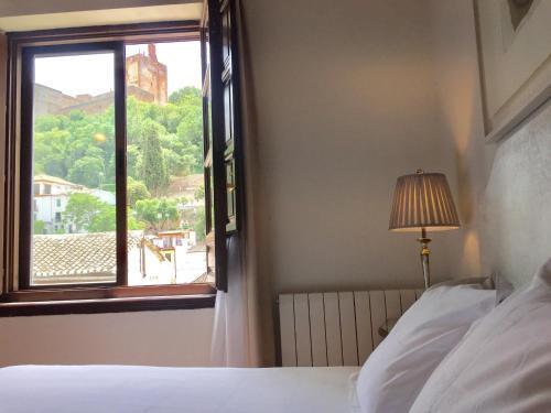 Doppel- oder Zweibettzimmer mit Blick auf die Alhambra Palacio de Santa Inés 11
