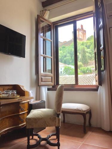 Doppel- oder Zweibettzimmer mit Blick auf die Alhambra Palacio de Santa Inés 9