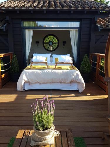 Cabane Spa Sauna - Chambre d'hôtes - Ville-sur-Jarnioux