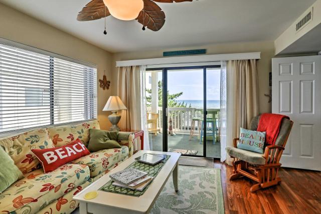 Ocean-View Condo with Deck, Steps to Carolina Beach!