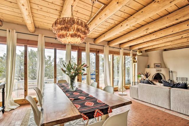 Authentic Santa Fe Adobe Home with Desert Views