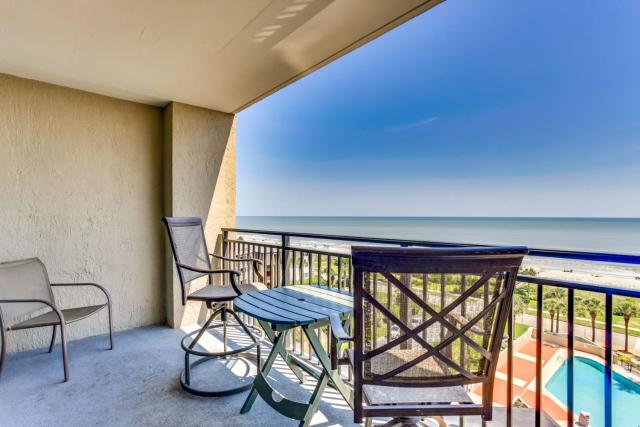 Scenic Views from the balcony at Ocean Forest Plaza Condos