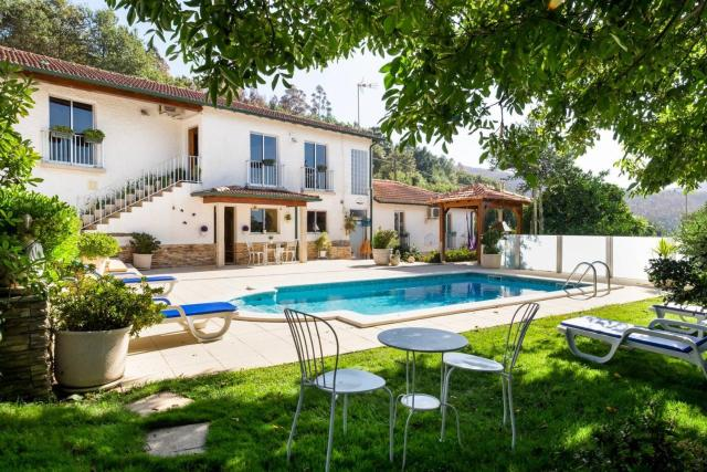 Villa with 5 bedrooms in Agueda with wonderful mountain view private pool enclosed garden 45 km from the beach