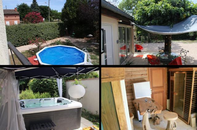 Appartement d'une chambre a Launaguet avec piscine partagee jardin clos et WiFi