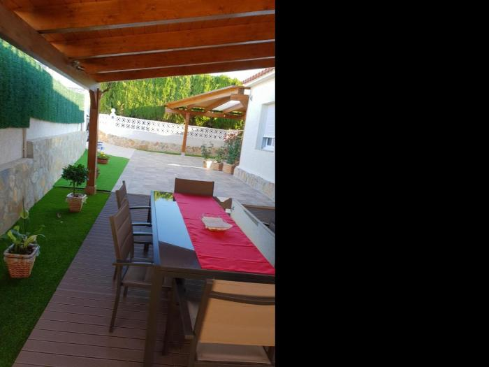 house with 2 bedrooms in calpe, with wonderful mountain view, furnished terra...