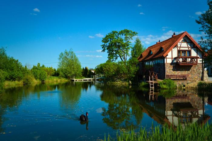 Dom na wodzie Mazury