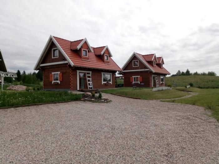 Domki z bala Mikołajki