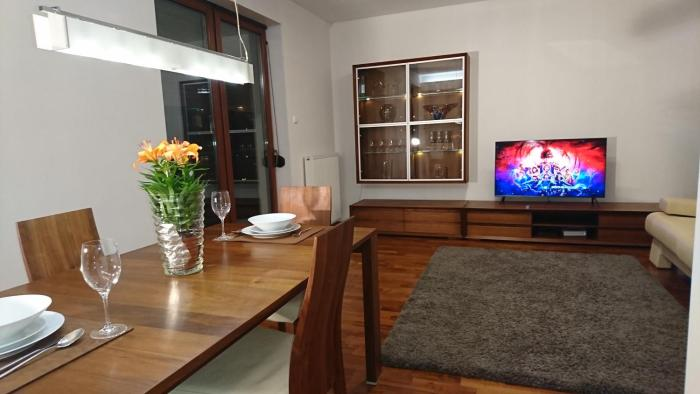Quiet and spacious apartment with garage option
