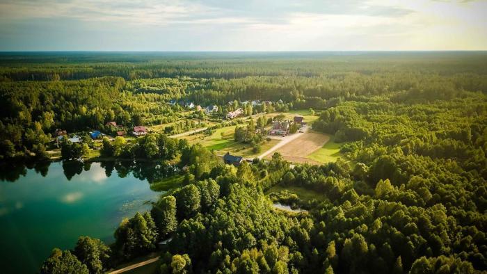 Rowerowa Przystań w sercu Puszczy Augustowskiej przy jeziorze Serwy noclegi Sucha Rzeczka 3C