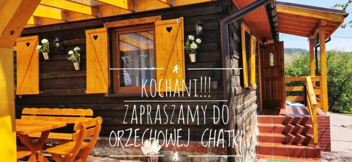 Sielanówek Orzechowa Chatka z sauną