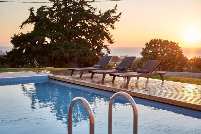 Luxury Rhodes Villa Anissa Villa Sea View Private Swimming Pool 4 BDR Kalithea
