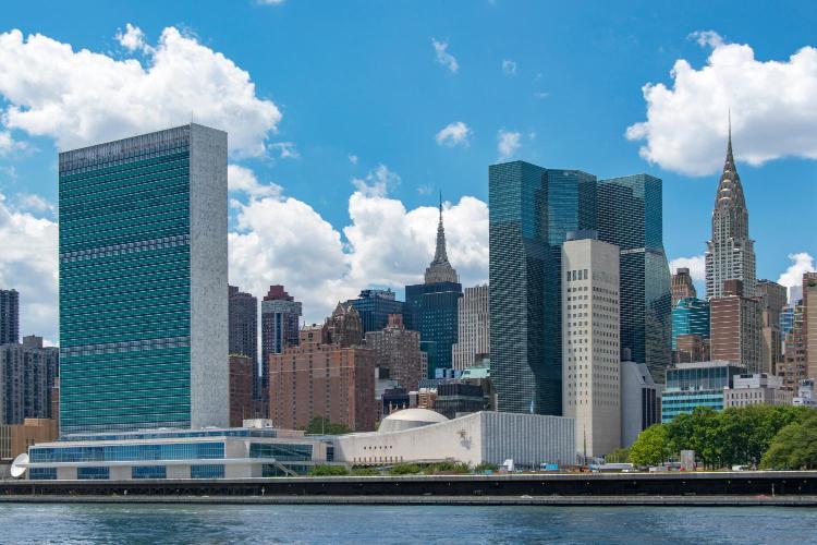 1 United Nations Plaza, New York 10017, United States.