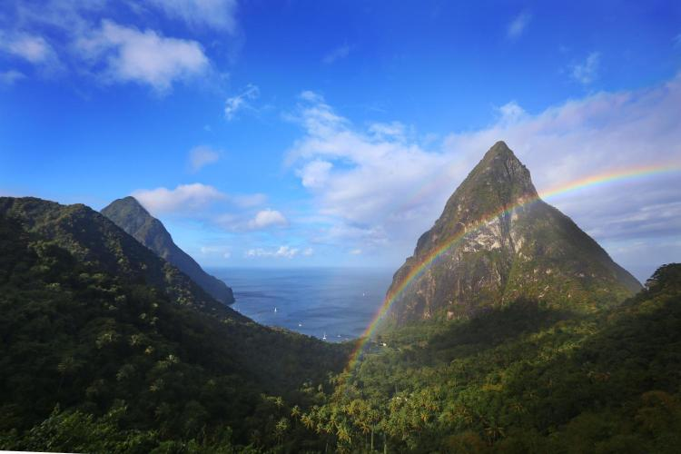 Soufrière, St. Lucia, West Indies.