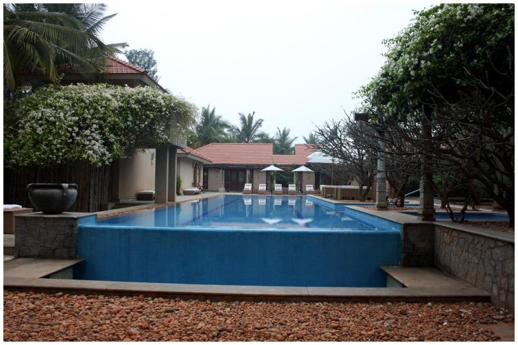 Shreyas Yoga Retreat, Santoshima Farm, Gollahalli Gate, Nelamangala, Bangalore India.