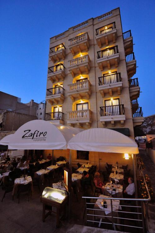 Hotel San Andrea, Xlendi Promenade, Xlendi, Gozo, Malta.