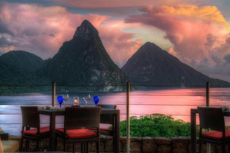 Soufriere, St. Lucia, West Indies.