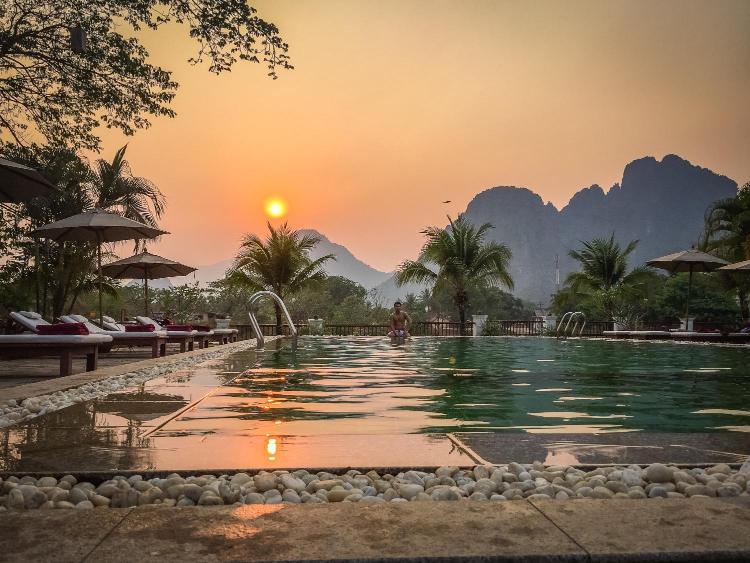 Ban Viengkeo, Vang Vieng, Laos.