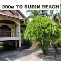 House. 300 m. to beach Surin. 2 br