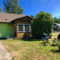 Green dreamy summer house