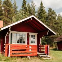 Korvala's red log cabins
