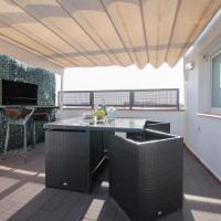 Two apartment duplex with private terrace, sleeps 6
