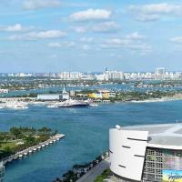 Enjoy the Great View! New&Stylish Condo in Miami with Pool&Gym