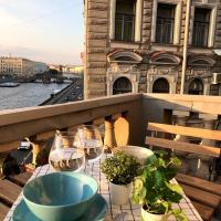 Апартаменты/квартиры, Квартира с балконом и видом на реку