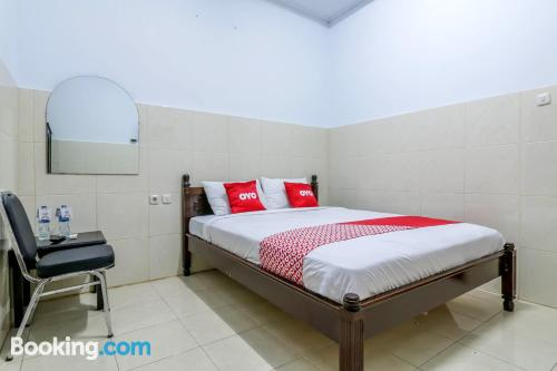 One bedroom apartment place in Denpasar with wifi.