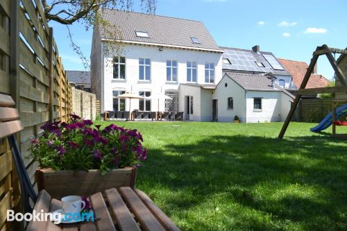Terrace and wifi apartment in Alveringem. Convenient for 6 or more