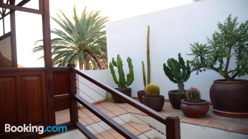 Terrace and internet home in Valle Gran Rey. Perfect!.