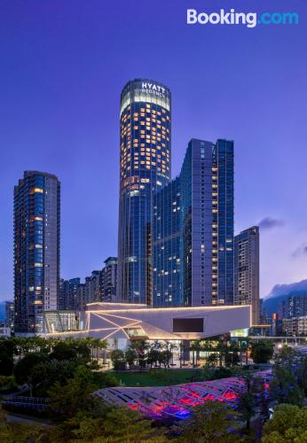 Apartment in Shenzhen with swimming pool.