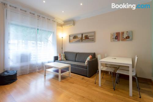 Comfortable apartment in Barcelona with heating and internet