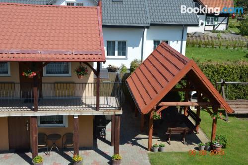 Apartamento de tres habitaciones en centro de Sztutowo.
