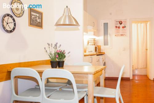 Baby friendly apartment in Barcelonain central location.