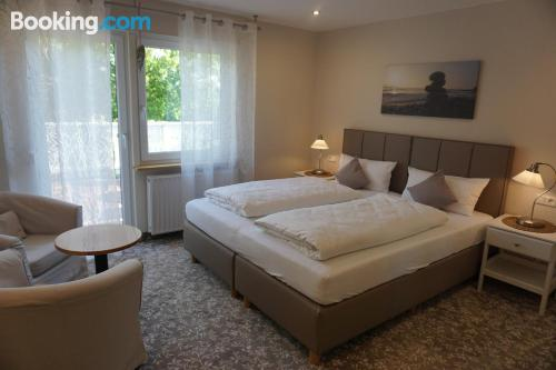 Sleep in amazing location with terrace and internet.