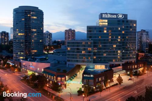 One bedroom apartment in Burnaby. Be cool, there\s air-con!