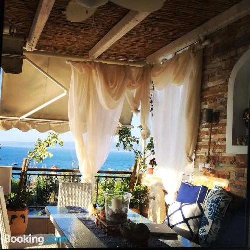 Family place in Agia Triada with terrace and pool.