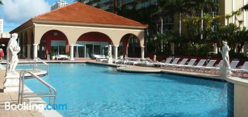 Comfy apartment in Sunny Isles Beachin superb location.