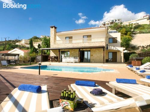 Home in Peyia with terrace and wifi.