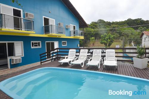 Home in Bombinhas with swimming pool.