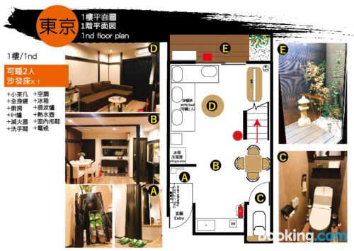 1 bedroom apartment home in Tokyo with air-con.