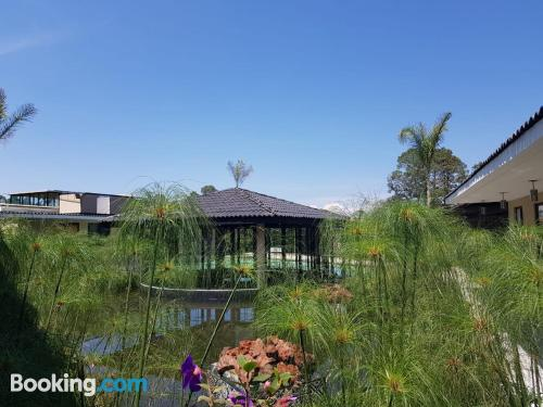 One bedroom apartment home in Valle de Bravo with terrace and internet.